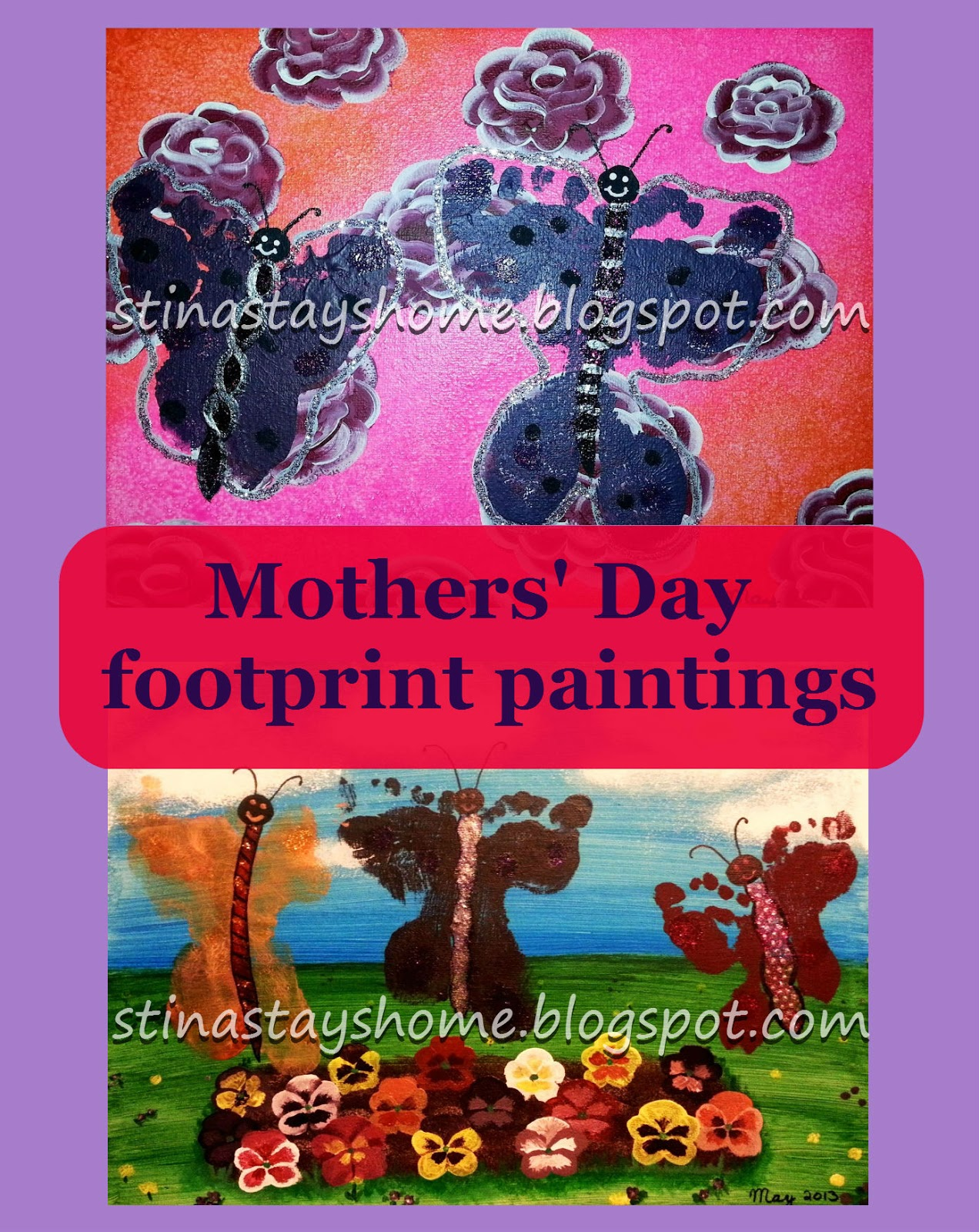 stay at home stina mothers day gifts footprint paintings