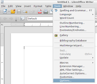 LibreOffice Tools Options