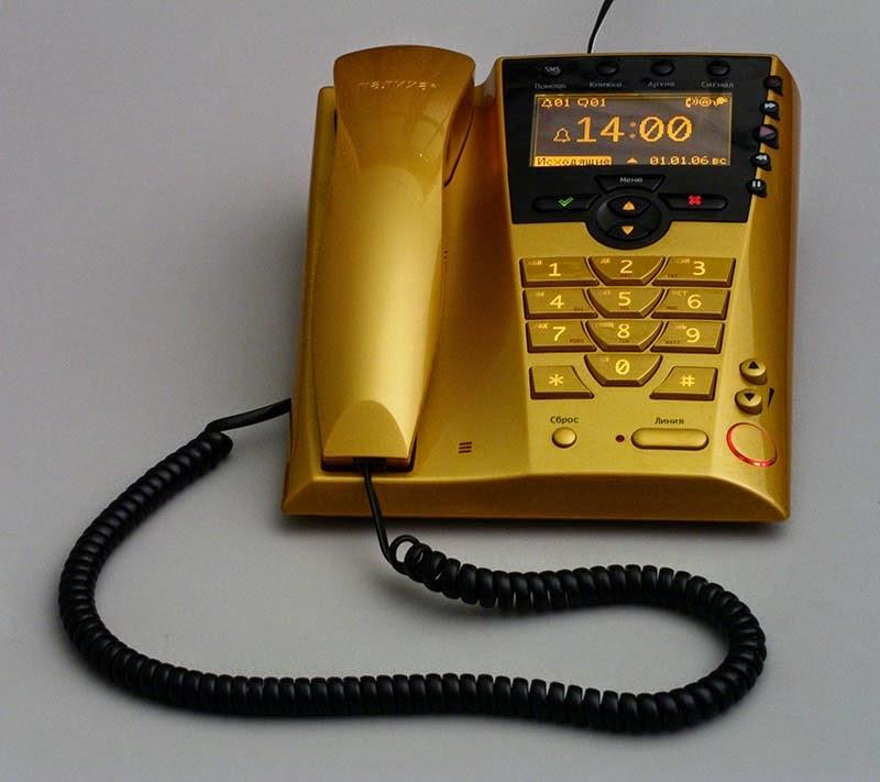 Телефон с АОН Палиха П-750 (янтарный) стильный многофункциональный определитель номера, автоответчик, качественный спикерфон, возможность связи с компьютером