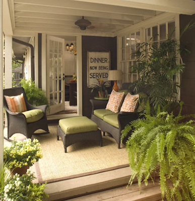 summer porch - COZY OUTDOOR OASIS