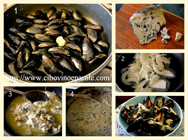 Cozze al Roquefort - ricetta step by step