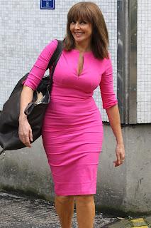 Carol Vorderman Tight Pink Dress