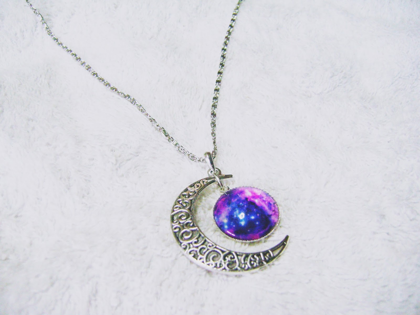 Product review starry sky moon gemstone pendant chain necklace from product review starry sky moon gemstone pendant chain necklace from born pretty aloadofball Images