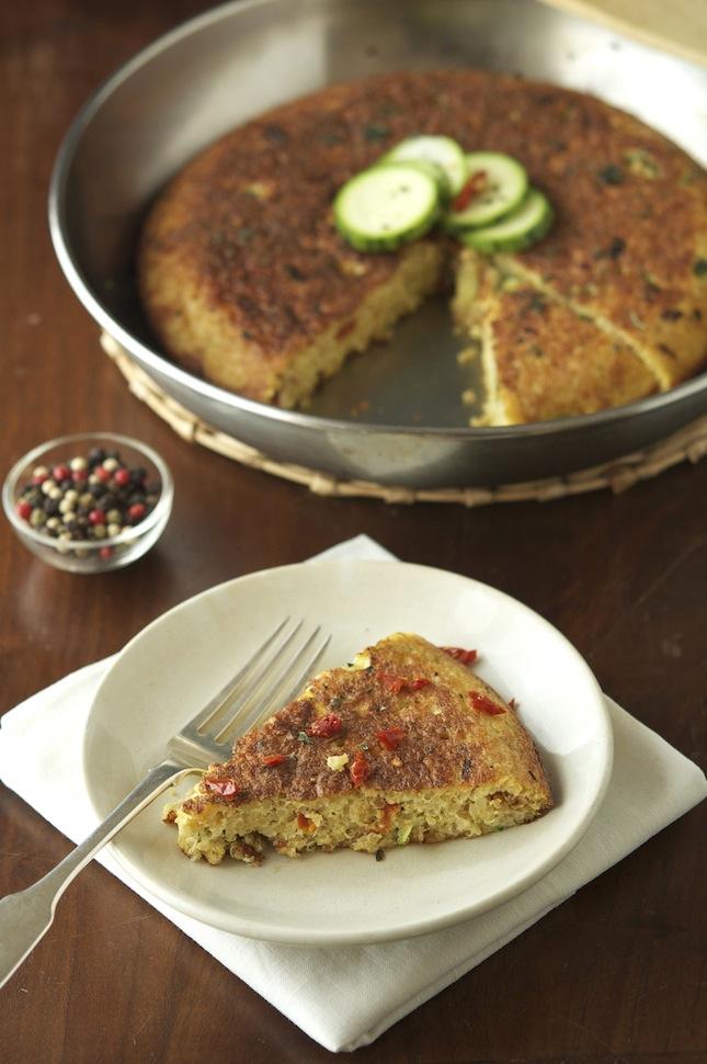 Quinoa, Zucchini & Sun-Dried Tomato Frittata