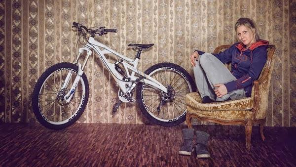 Julia Hoffman Mountain Bike Rider