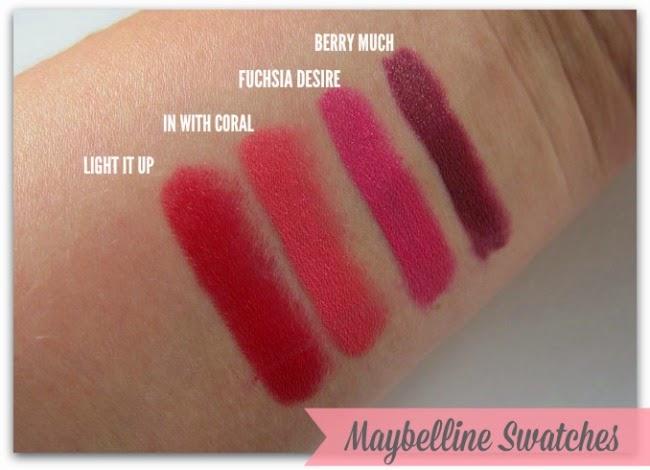 Maybelline Colour Drama Intense Velvet Lip Pencil Swatches