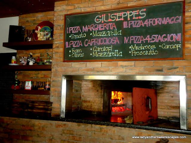 brick oven at Giuseppe's Tacloban