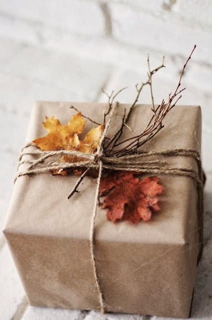nature inspired Christmas gift wrap
