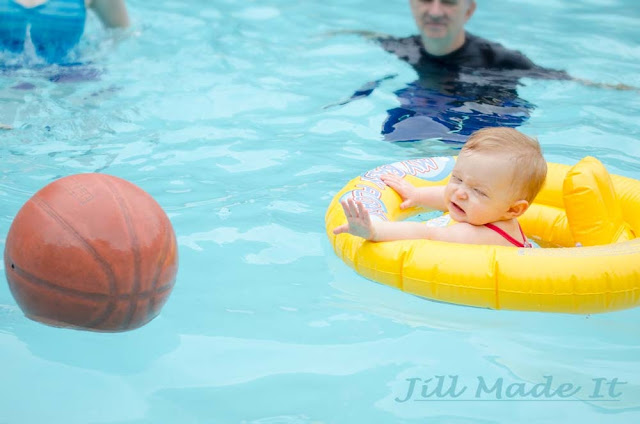 One Year Old Birthday Party:  So Much Fun in the Swimming Pool 3