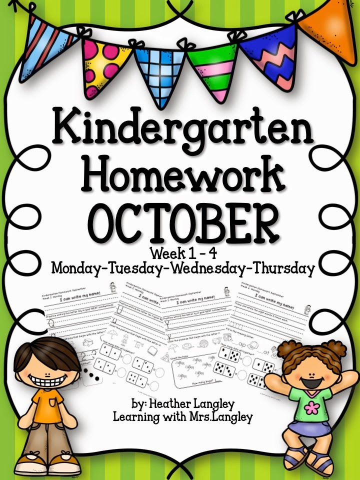 http://www.teacherspayteachers.com/Product/Kindergarten-Homework-OCTOBER-1464604