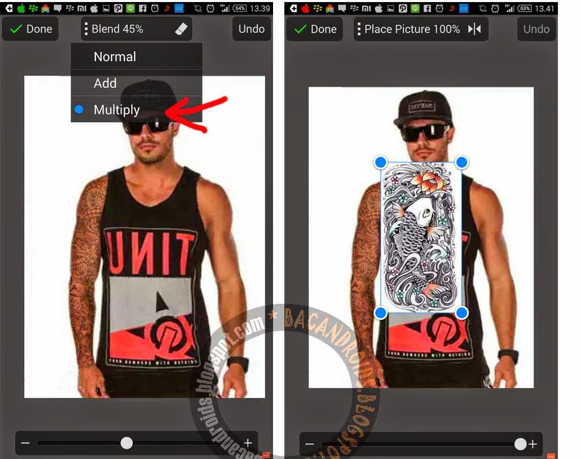 Menambahkan Efek Tatto dengan PicSay
