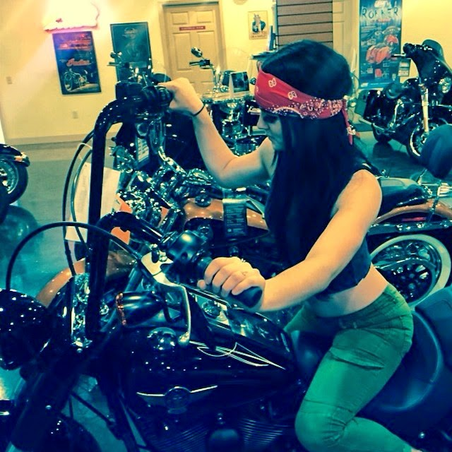 Paige Looks Sexy on This Bike.