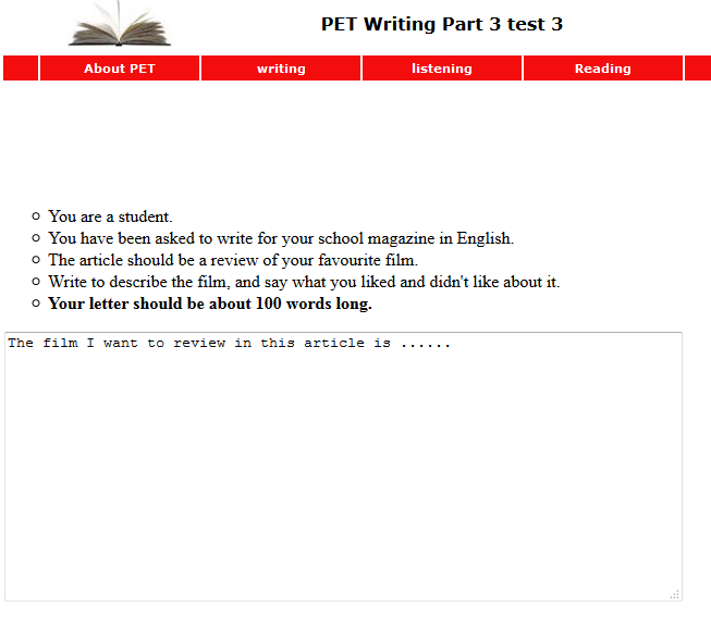 http://www.english-online.org.uk/petfolder/test3/petwrite3.php?name=PET%20Writing%20Part%203%20test%203