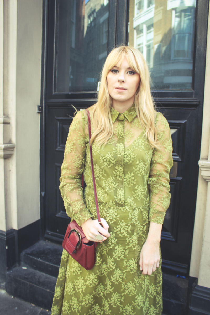 Finery London Ivy Green Dress
