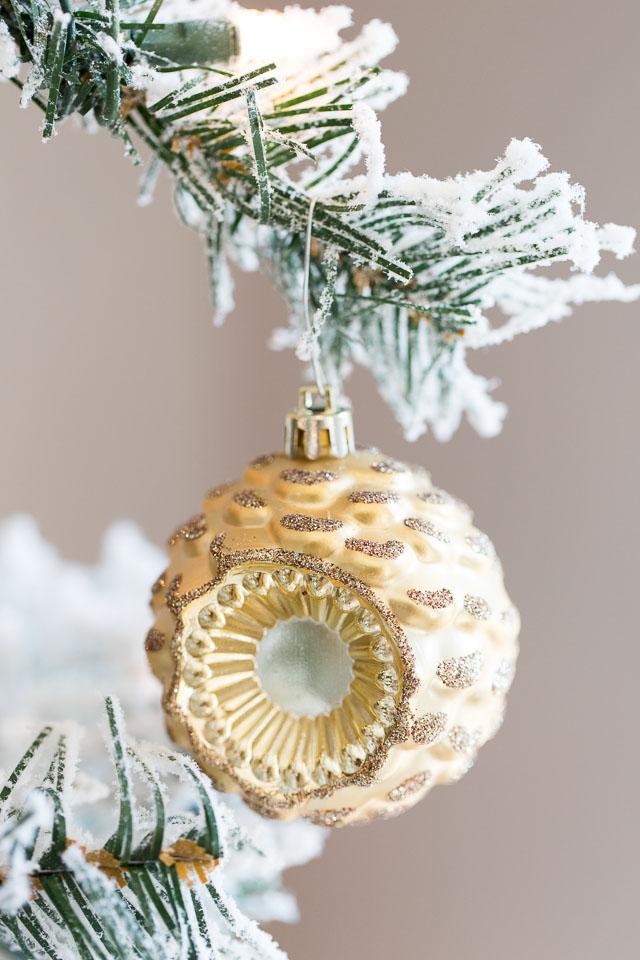 Gold metallic ornaments