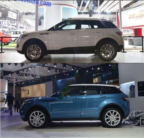 Asemanare izbitoare din lateral intre Landwind X7 si Land Rover Evoque