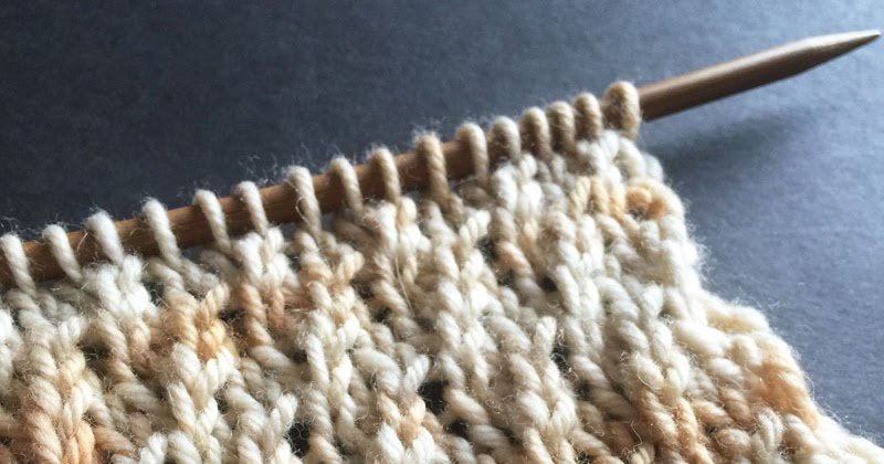 Knitting In The Round First Stitch : Twisted Stockinette Rib The Weekly Stitch