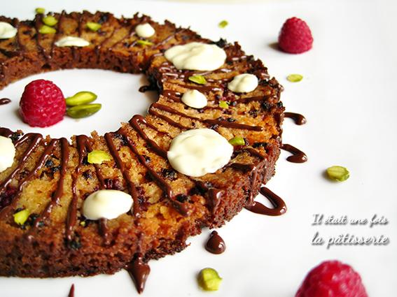 streusel framboise chocolat en carpaccio