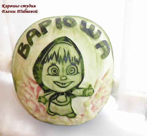 детский карвинг по фруктам для девочки