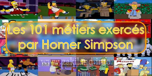 Les 101 métiers exercés par Homer Simpson jobs