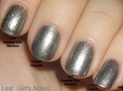 chanel graphite and opi number one nemesis comparison