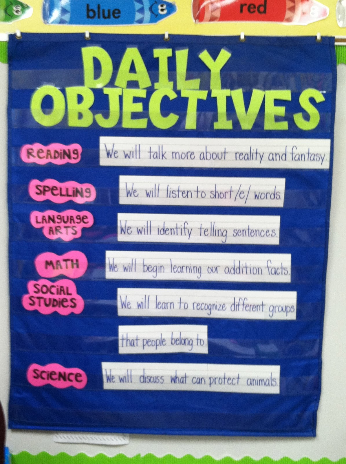 Classroom Management Ideas : Life in first grade math fun anchor chart objectives