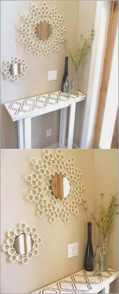 Kerajinan Tangan Membuat Cermin Dari Pipa PVC