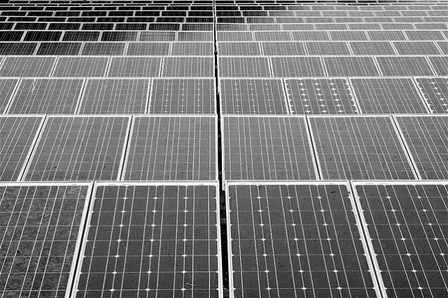 Solar pnels (Credit: Flickr/Ammusk)  Click to Enlarge.
