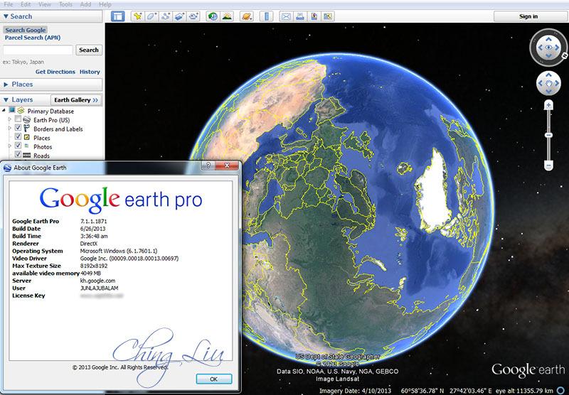 google earth pro 7.1 license key and username
