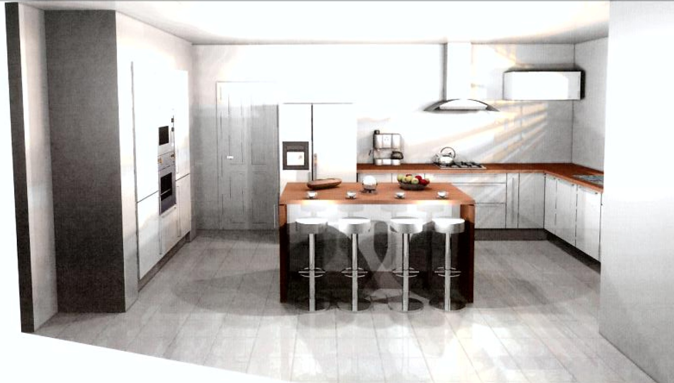 Idees cuisine coloniale moderne for Plan cuisine 3d