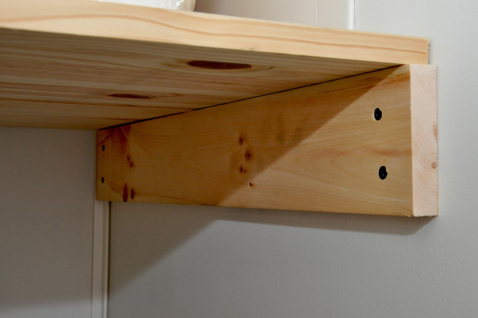 Marvelous photograph of Wood Bathroom Shelves Installing a bathroom shelf with #462814 color and 1600x1063 pixels