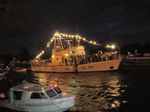 TIGRE: Procesion de 8 de diciembre, en Día de la Virgen por el Río Luján.