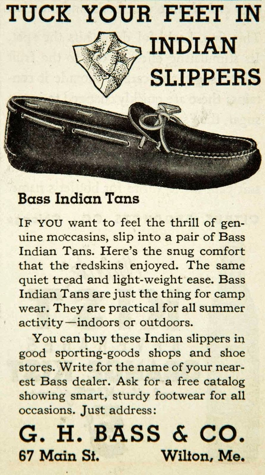 G.H.Bass Outdoors: Indian Slippers