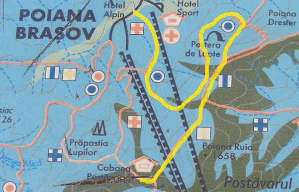 harta poiana bv - cabana postavaru