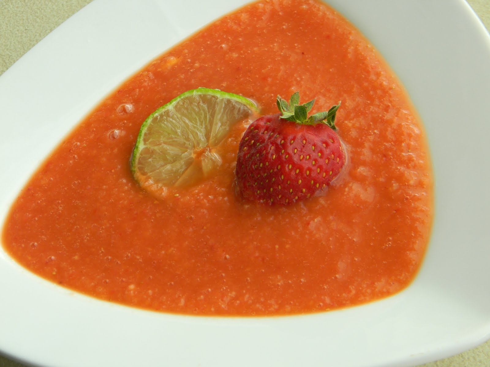 SugarRush . . .: Strawberry Mango Gazpacho