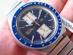 SEIKO SPEEDTIMER CHRONOGRAPH BIG BLUE - KAKUME - AUTOMATIC 6138 0030