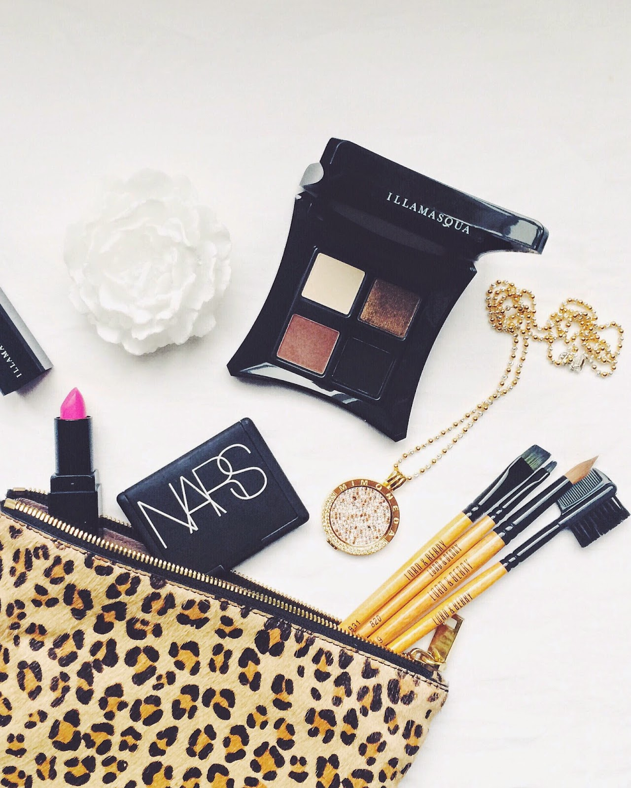 asos beauty, nars blush, illamasqua, illamasqua eye shadow, pink lipstick