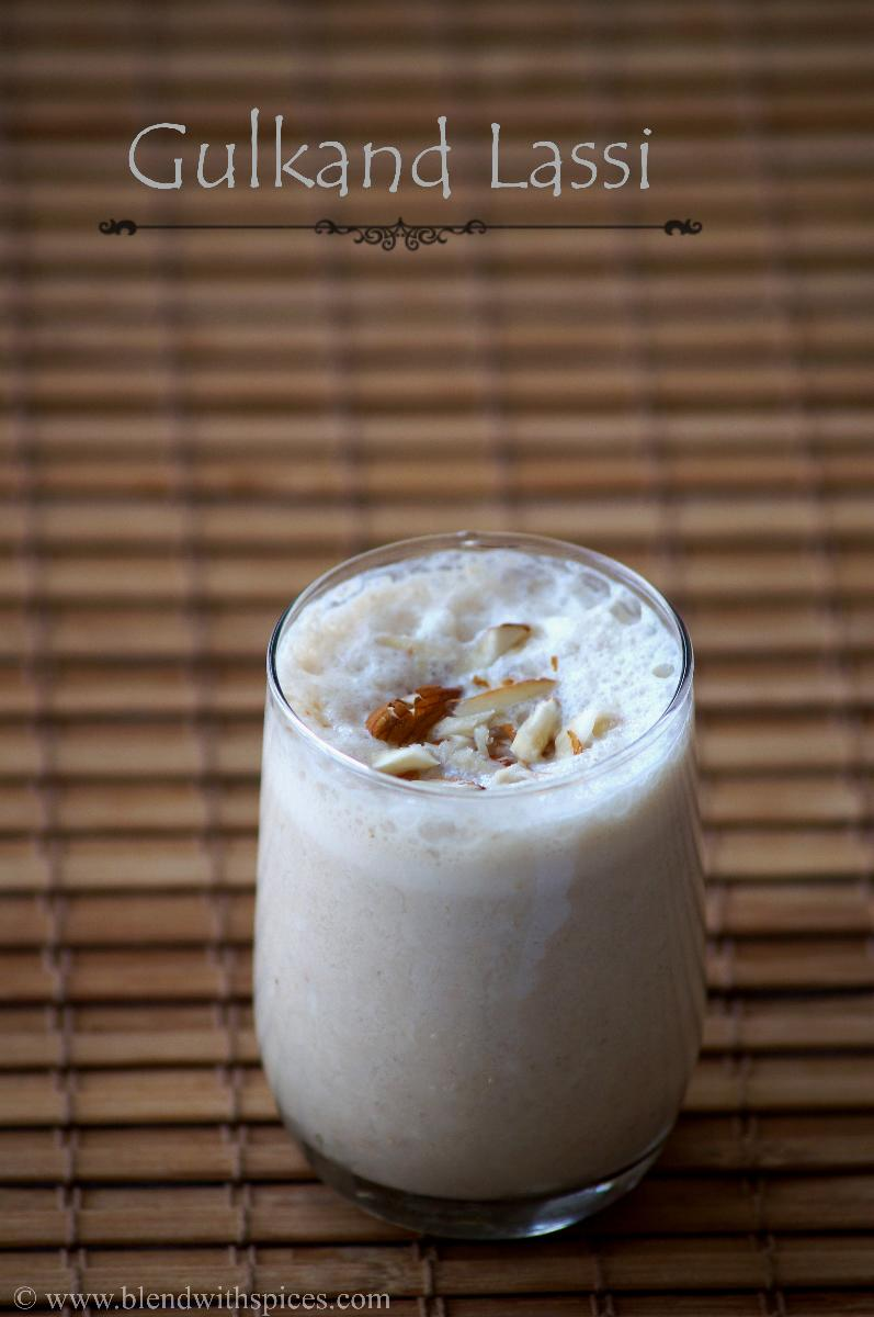 Gulkand Lassi Recipe - Indian Rose Petal Jam Lassi - Gulkand Recipes ...