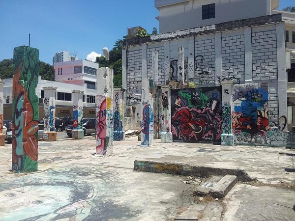 Tiang Graffiti Kota Kinabalu