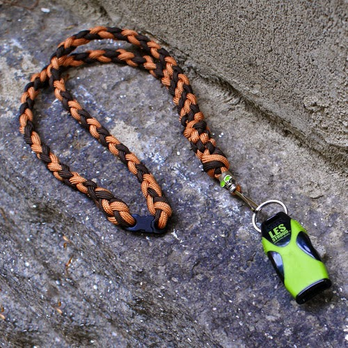 Les Stroud Whistle with Parachute Cord Lanyard by Joel Hooks