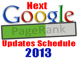 Pagerank 2013 update schedule