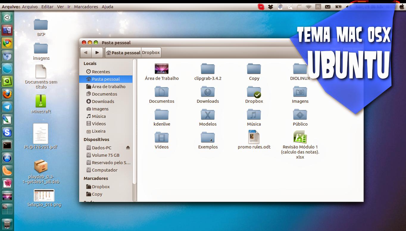 Tema Mac OSX para Ubuntu 14.04