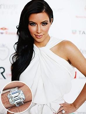 Réplique de la bague de fiançailles de Kim Kardashian à petit prix!