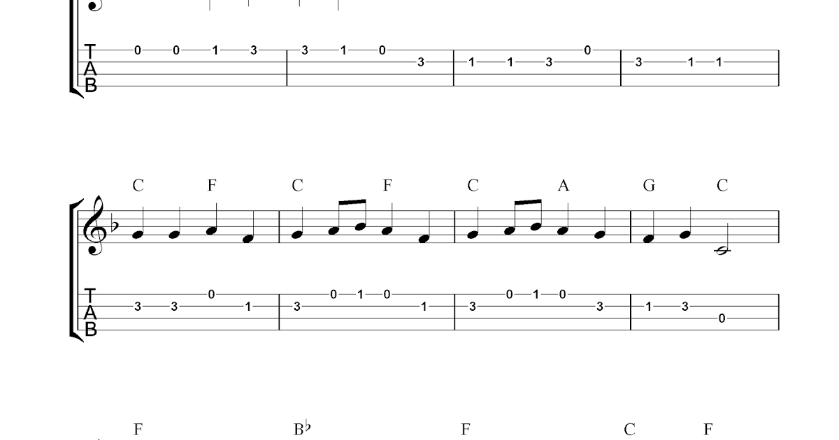 Ode To Joy, free ukulele tab sheet music