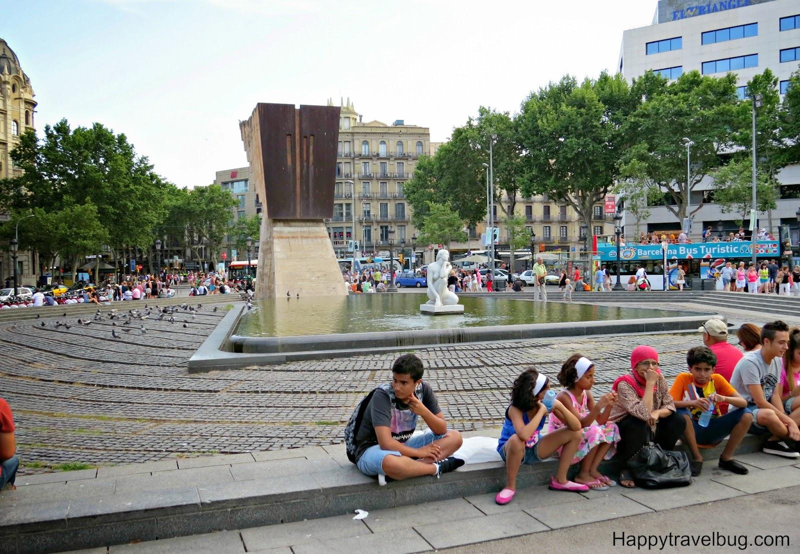 Catalunya Plaza in Barcelona, Spain