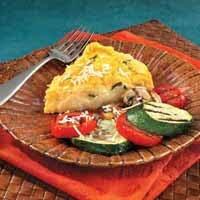 Basil Cheese Polenta Wedges