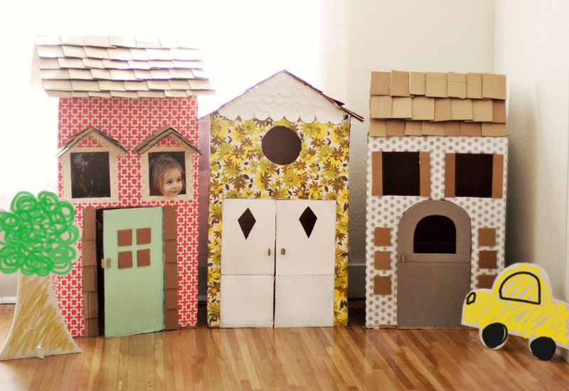 Blog de decora o arquitrecos casinhas de papel o for Cool things to make out of a shoe box