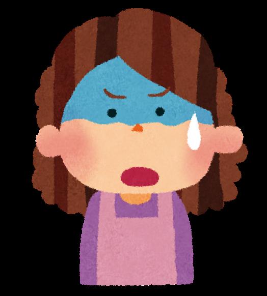 お母さんのイラスト「焦った顔 ... : 日本地図 ひらがな : ひらがな