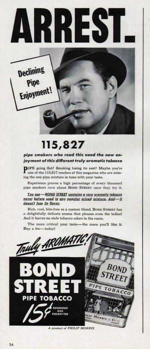 bond street tobacco ad