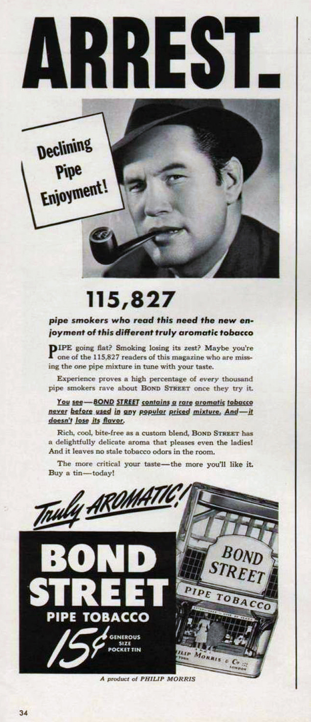 bond street tobacco ad